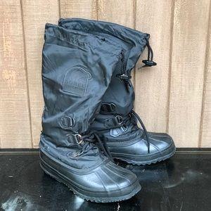 Sorel Snowlion Duck Boot Black Winter Snow 7